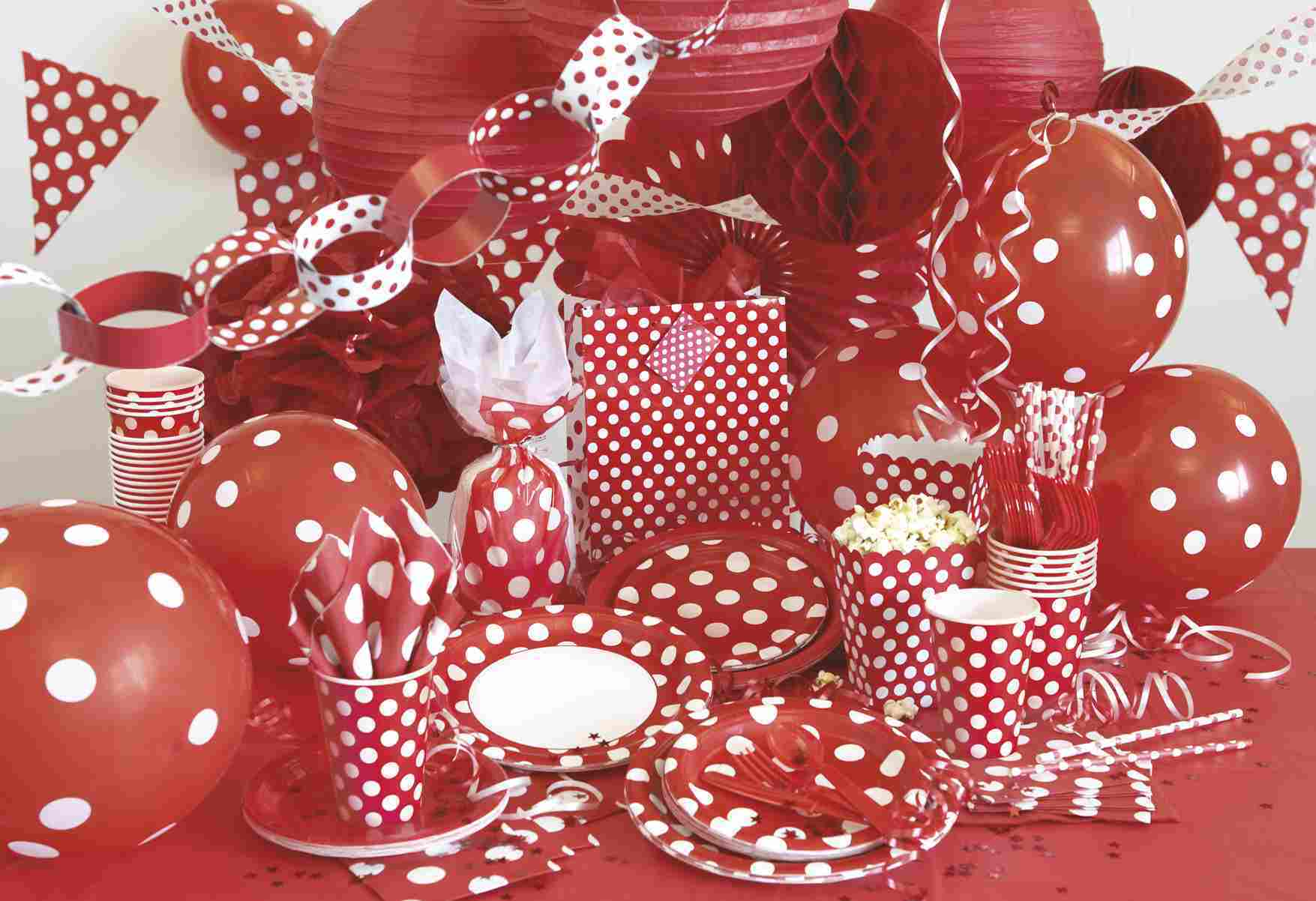 Polka dots party supplies bartz 39 s party stores for Polka dot party ideas